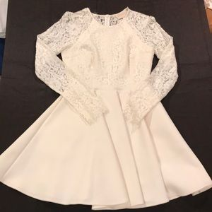 Formal Lace Long sleeve skater dress